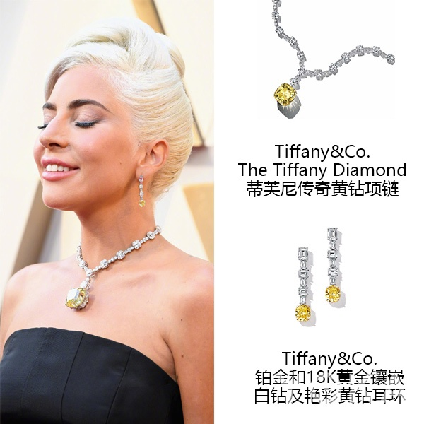 Lady Gaga佩戴Tiffany珠宝  图片源自东方IC