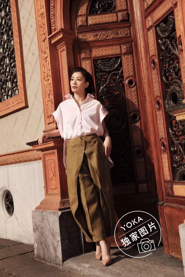 YOKA为贾静雯在米兰街拍
