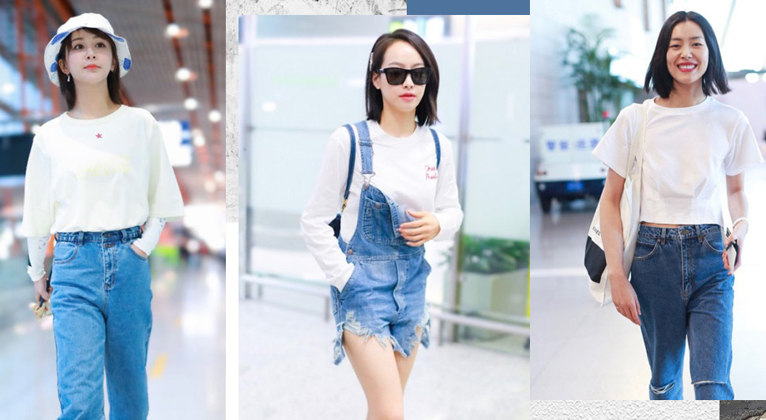 白TEE x 水洗蓝牛仔裤 夏日最清爽CP