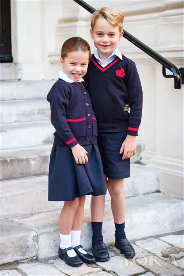 乔治和夏洛特(图片来源于Harper's Bazaar)