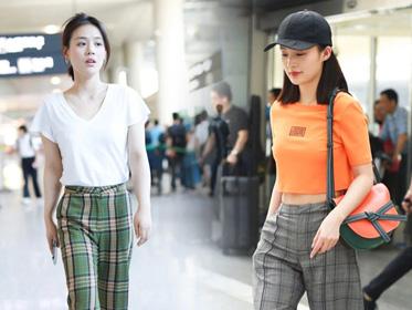 火到夏天的格纹裤,怎么穿才能又瘦又美?