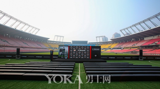 泰格豪雅携手品牌大使李易峰揭幕中超联赛全新计时牌活动在北京工人体育场举行